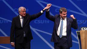 CSU kürt Doppelspitze: Söder und Seehofer leiten neue Ära ein