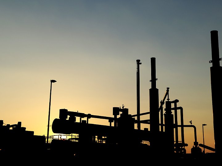 Erdgasförderanlage nahe Rotenburg (Niedersachsen).