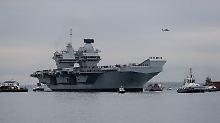"""Trotzdem """"Prächtigstes der Welt"""": Britisches Super-Militärschiff hat ein Leck"""