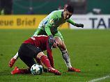Nürnberg hält lange gegen: Wolfsburg beißt sich ins Pokal-Viertelfinale