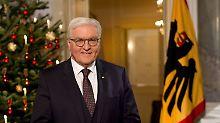 Ansprache des Bundespräsidenten: Steinmeier wirbt um Vertrauen und warnt