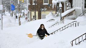 Der diesjährige Schneefall in Erie knackt einen Rekord von 1956.