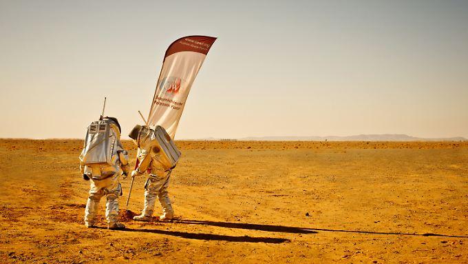 Bereits 2013 testete der ÖWF in Marokko marsähnliche Bedingungen.
