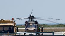 Mit diesem Hubschrauber sind die acht türkischen Soldaten nach Griechenland geflohen.