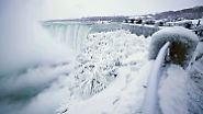Eisiges Naturschauspiel: Niagarafälle erstarren in der Kälte