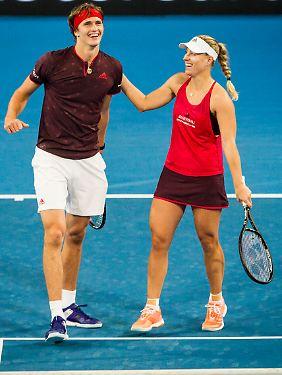 Haben allen Grund zur Freude: Alexander Zverev und Angelique Kerber.