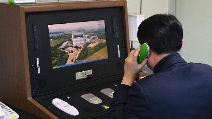 Weiterer Schritt Richtung Dialog: Nordkorea reaktiviert Telefonleitung zum Süden