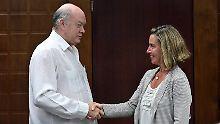 "EU-Außenbeauftragte in Havanna: Mogherini: US-Embargo gegen Kuba ""illegal"""