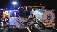 An diesem Unfall in Hessen hatte der Fahrer des Kleintransporters keine Schuld.