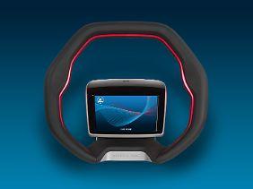 Das Lenkrad von ZF ist für autonom fahrende Autos ab Level 3 gedacht.
