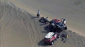 Überschläge und Kollisionen: Es kracht im Sand der Rallye Dakar