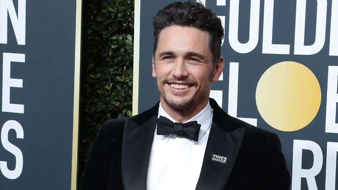 "James Franco erschien bei der Golden Globe-Verleihung mit dem ""Time's Up""-Anstecker."