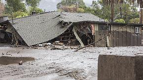 Mindestens 13 Tote in Kalifornien: Schlammmassen begraben Menschen und Häuser unter sich