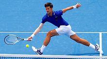 Der Ellenbogen hält: Novak Djokovic ist glücklich, wieder Tennis spielen zu können.