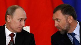 Kennen sich: Russlands Präsident Wladimir Putin und Manaforts Geschäftspartner Oleg Deripaska.