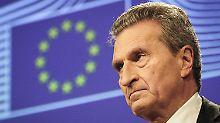 Günther Oettinger hat bereits den EU-Finanzrahmen ab dem Jahr 2021 im Blick.