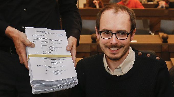 Antoine Deltour im Dezember 2016 vor Gericht.