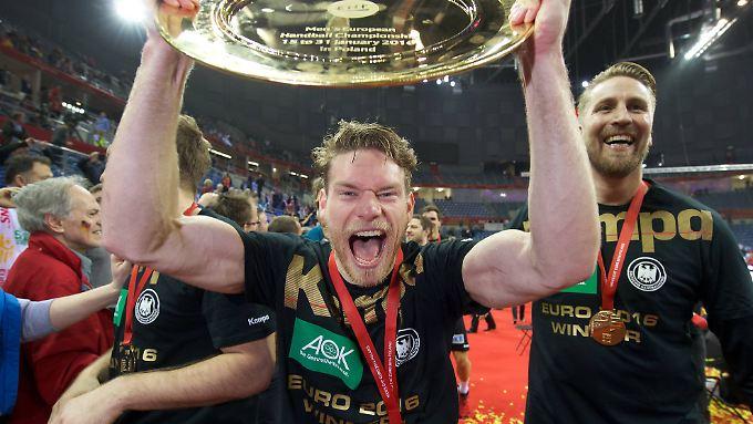 Bei der EM vor zwei Jahren überzeugt Rechtsaußen Tobias Reichmann als zweitbester Torschütze des Turniers.