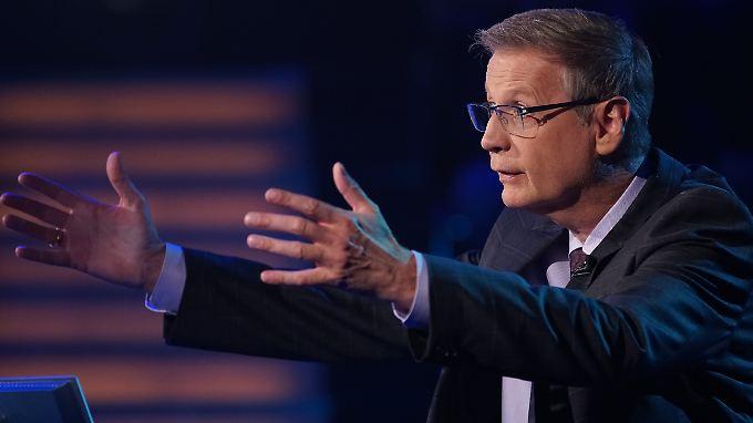 """Huch: Bei der aktuellen Ausgabe von """"Wer wird Millionär?"""" stellt Moderator Günther Jauch eine Frage zwei Mal."""