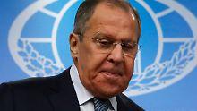 """Rundumschlag vom Außenminister: Russland wirft USA """"skrupellose"""" Politik vor"""