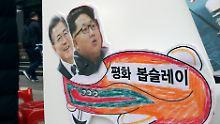 Eröffnung der OIympischen Spiele: Korea-Staaten wollen gemeinsam einlaufen