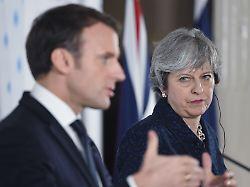 Keine Ausnahme für Finanzsektor: Macron schlägt May EU-Sonderzugang ab
