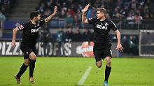 Simon Terodde hat's drauf: In zwei Spielen für den 1. FC Köln erzielt er drei Tore.