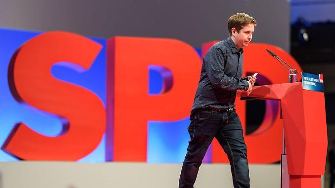 Kühnert rebelliert gegen die Linie der SPD-Führung.