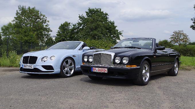 Zwei Generationen von Bentley-Cabrios: Azure und Continental GT V8 S Convertible