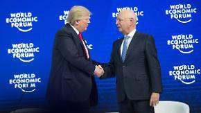 15 neue Freunde für Donald Trump: US-Präsident schwimmt in Davos auf Welle des Lobes
