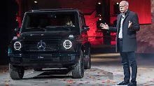 Daimler-Chef Zetsche präsentiert auf der Detroit Auto Show die neue G-Klasse.