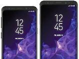 Von vorne sehen Galaxy S9 und Glalaxy S9 Plus wie das S8-Duo aus.