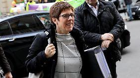 Annegret Kramp-Karrenbauer hat gute Aussichten auf die Merkel-Nachfolge.