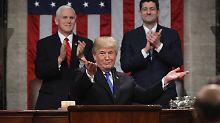 Erste Rede zur Lage der Nation: Trump zeigt sein zweites Gesicht
