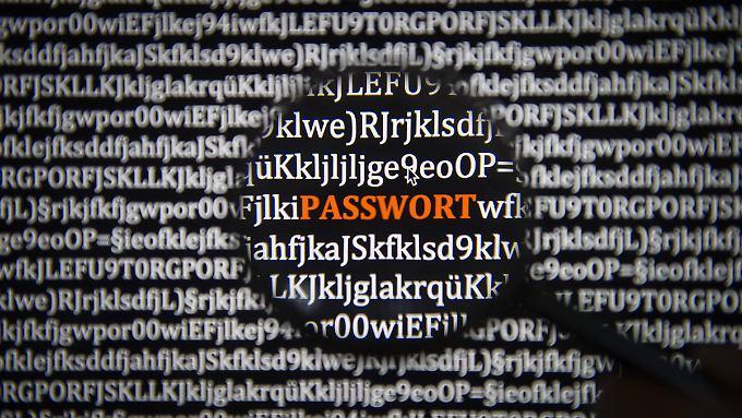 """""""Passwort"""" darf niemals das Passwort sein."""