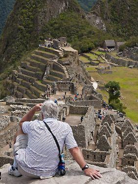 Machu Picchu ist eine der Hauptattraktionen Perus und immer sehr gut besucht.