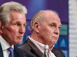 Uli Hoeneß - ein Mann der Tat - lässt verlauten, dass er für das Traineramt keinen Plan B hat.