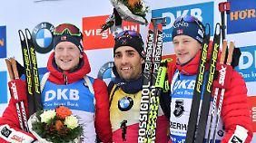Johannes Thingnes Bö, Martin Fourcade und Tarjei Bö: Sie dominieren in dieser Saison das Geschehen bei den Herren.