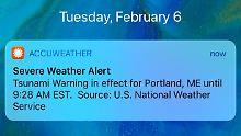 Falscher Alarm vom Wetterdienst: App sendet Tsunami-Warnung für New York