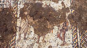 In diesem Mosaik wurden rund 12.000 Steine pro Quadratmeter verlegt.