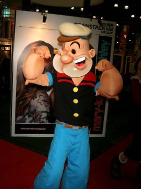 Kinder, merkt euch: Popeye ist so stark, weil er viel Spinat isst.