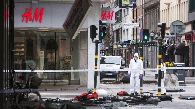 Fünf Menschen starben beim Anschlag in Stockholm.
