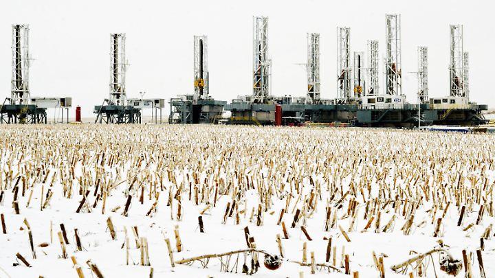 Auch im von Landwirtschaft geprägten Nord Dakota bohren US-Produzenten nach Schieferöl.