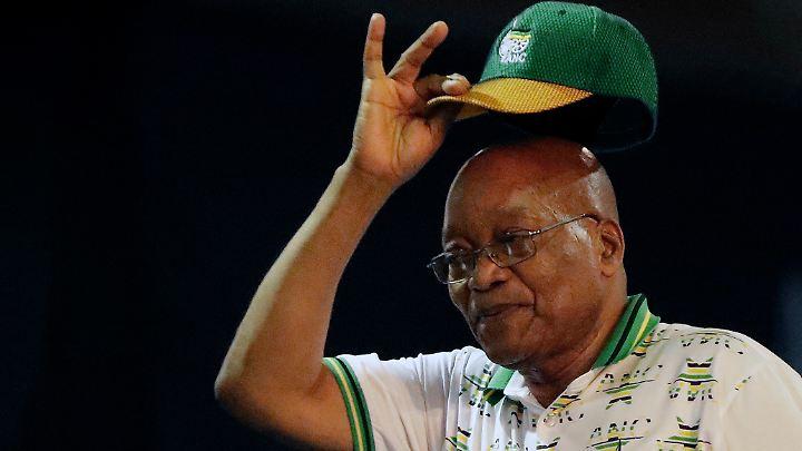 Zuma in den Farben seiner Partei, der Anti-Apartheids-Bewegung ANC.