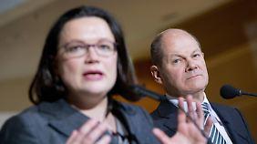 Nahles bekommt Gegenkandidatin: Scholz übernimmt kommissarisch SPD-Parteivorsitz