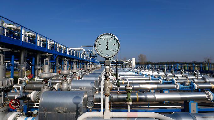 Gasspeicher des staatlichen ungarischen Energieversorgers MVM.