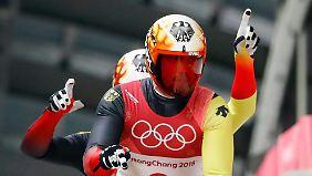 Noch eine Goldmedaille im Rodeln für Deutschland ist drin.