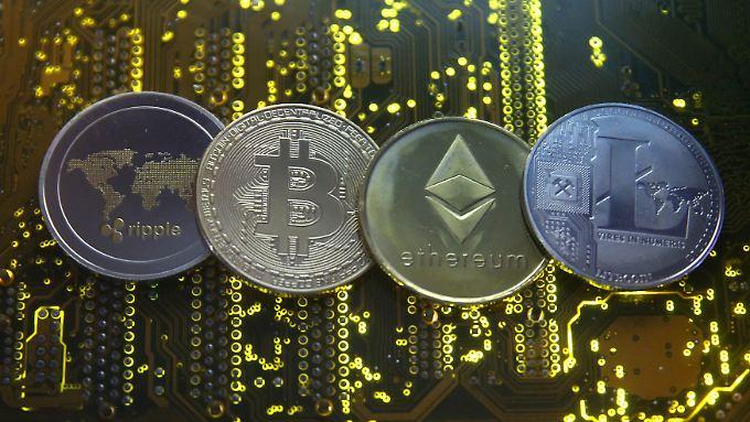 Stark schwankende Kurse und kaum Möglichkeiten, sie im Handel zu nutzen: Kryptowährungen