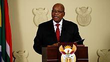 Südafrikas umstrittener Staatschef Jacob Zuma hat seinen sofortigen Rücktritt verkündet.