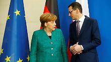 Polens Premier in Berlin: Der Mann, der viel erklären muss